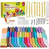 مجموعة صلصال بوليمر من كيوماي للقولبة اليدوية الابداعية مع الملحقات والادوات - هدية للاولاد والبنات