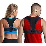 LifenC - Correttore posturale regolabile per schiena, adatto in caso di dolore alle spalle o alla schiena, per uomini donne b