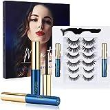 Magnetische Eyeliner, Winpok 6 Paar Magnetische Wimpers Set, Waterdichte Magnetische Eyeliner met Herbruikbare Valse Magnetis