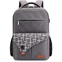 Lekesky Laptop Backpack 15.6 Inch School Travel Computer Rucksack with USB Charging Port for Work/Women/Men