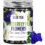 BLUE TEA - Butterfly Pea Flower Tea - 50 Gram   FARM PACKED   For Food Coloring, Iced Tea, Coolers, Cocktails, Mocktails   GM