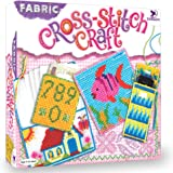 Toykraft: Cross Stitch Craft - Embroidery Kit | Do It Yourself Craft Activity Kit for Girls Aged 7 Years to Adults | Cross St