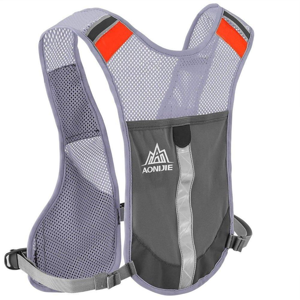 Aonijie zaino d' idratazione ciclismo riflettente gilet leggero Gear Pocket visibilità corsa, Grey