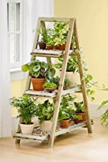 Sharpex A-Frame Solid Wood Garden Planter Shelf/Garden Plant Stand
