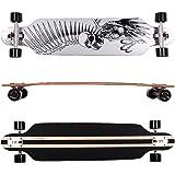FunTomia Longboard Skateboard Drop Through Cruiser Komplettboard mit Mach1 High Speed Kugellager T-Tool mit und ohne LED…