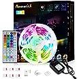 LED Strip 5m Romwish RGB Lights Kit met IR Afstandsbediening RGB Smd 5050 24v Color Changing Veelkleurig Kleurverandering voo