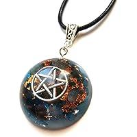 Orgonite ciondolo Wiccan Pietra Di Luna collana pentacolo Wicca Orgone protezione Ametista quarzo amuleto fatto a mano