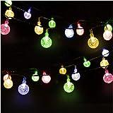 Cadena de Luces, Mr.Twinklelight 4.5M 30 LED Solar Bola de Cristal Luz Decorativa para Jardín, Terraza, Boda, Árbol de Navida