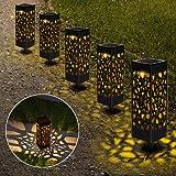 Lámparas Solares para Jardín, Nasharia 6 Piezas Luces Solar Exterior Jardin, IP65 Impermeable, Luces Solares de Jardín, Luz S