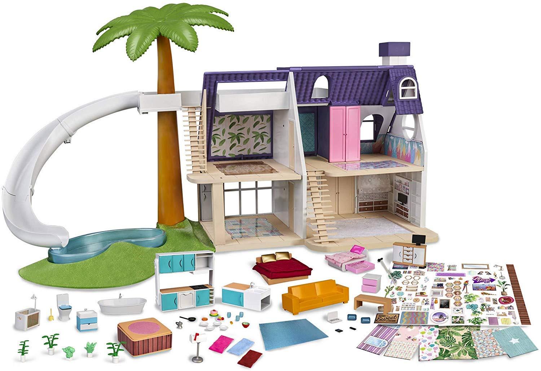 Mymy City Palmhouse – Casita de muñecas amueblada para niños y niñas de 3 a 8 años (Famosa 700015353)