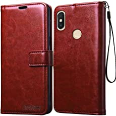 Bracevor Redmi Y2 | Mi y2 Flip Cover Case | Premium Leather | Inner TPU | Foldable Stand | Wallet Card Slots - Executive Brown