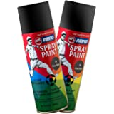 ABRO SP-39 Multipurpose Colour Spray Paint Can for Cars and Bikes (Glossy Black, 400ml, 2 PCS)
