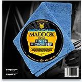 Maddox Detail - Finish Microfiber - Paño de Microfibra 40 x 40 cm. Robusta y sin Pelusa, de Dos Lados con Bordes Libres de Co