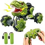 Euyecety Dinosaurie Leksak, Dinosaur Bil Dinosaurie Leksak, Fjärrkontrollbil Snabba, RC-bil 1:18, 2 Uppladdningsbara Batterie