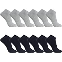 FALARY Ankle Socks Mens Trainer 12 Pairs Sport Performance Low Cut Unisex