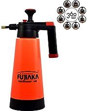 Fujiaka WS/360 Garden Handheld Pressure Sprayer with Rotating Nozzle-HDP Plastic- 2 litres-(Orange and Black)