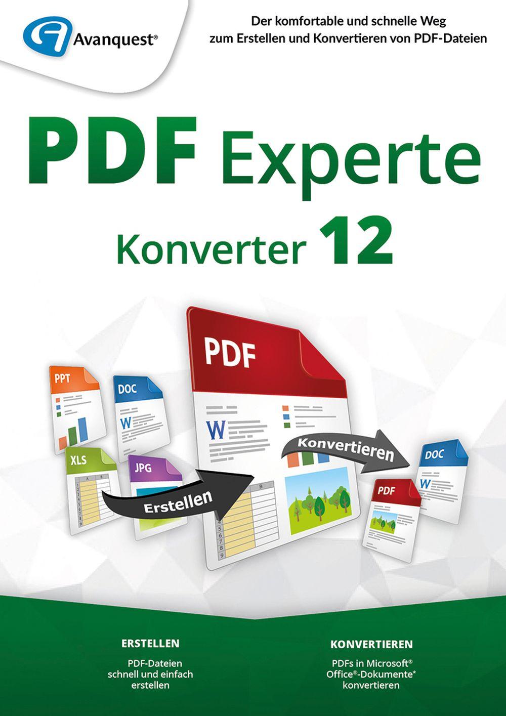 PDF Experte 12 Konverter - Der professionelle PDF-Manager - zum Konvertieren von PDFs! [Online Code]