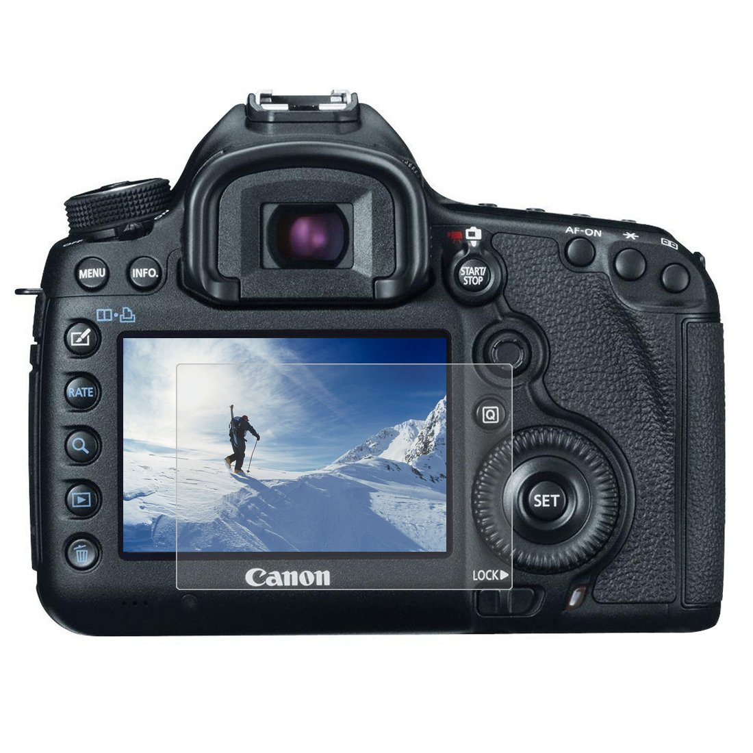 Puluz fotocamera 2.5d Curved Edge durezza 9H vetro temperato schermo per Canon 5D Mark III