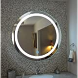 ARANAUT Glass Led Mirror (21 x 21 inch, White)