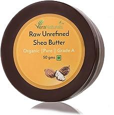 VeraNaturals Raw Unrefined Shea Butter, 50g