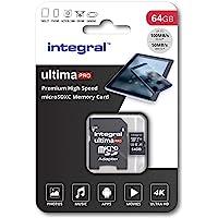 64GB Micro SD Card 4K Ultra-HD Video Premium High Speed Memory Microsdxc Up To 100MB/S V30 UHS-I U3 A1 C10, by Integral