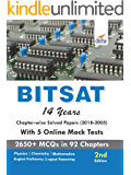 BITSAT 14 Years Chapter-wise Solved Papers (2018-2005) with 5 Online Mock Tests 2nd Edition