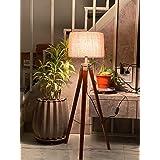 Nautical Home Decor Wood, Metal Floor Lamp, Brown