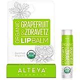 Alteya Organic Balsamo Labbra con Olio di Pompelmo e Geranio 5 ml – USDA certificata organica naturale cura labbra, basata su