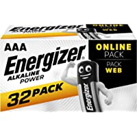 Energizer Alkaline Power AAA 32 Pack Batteries