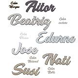 Nombres de Madera Decorativos Personalizados, Marcasitos para Bodas, Comuniones, Bautizos, Cumpleaños.Decoración para el hoga