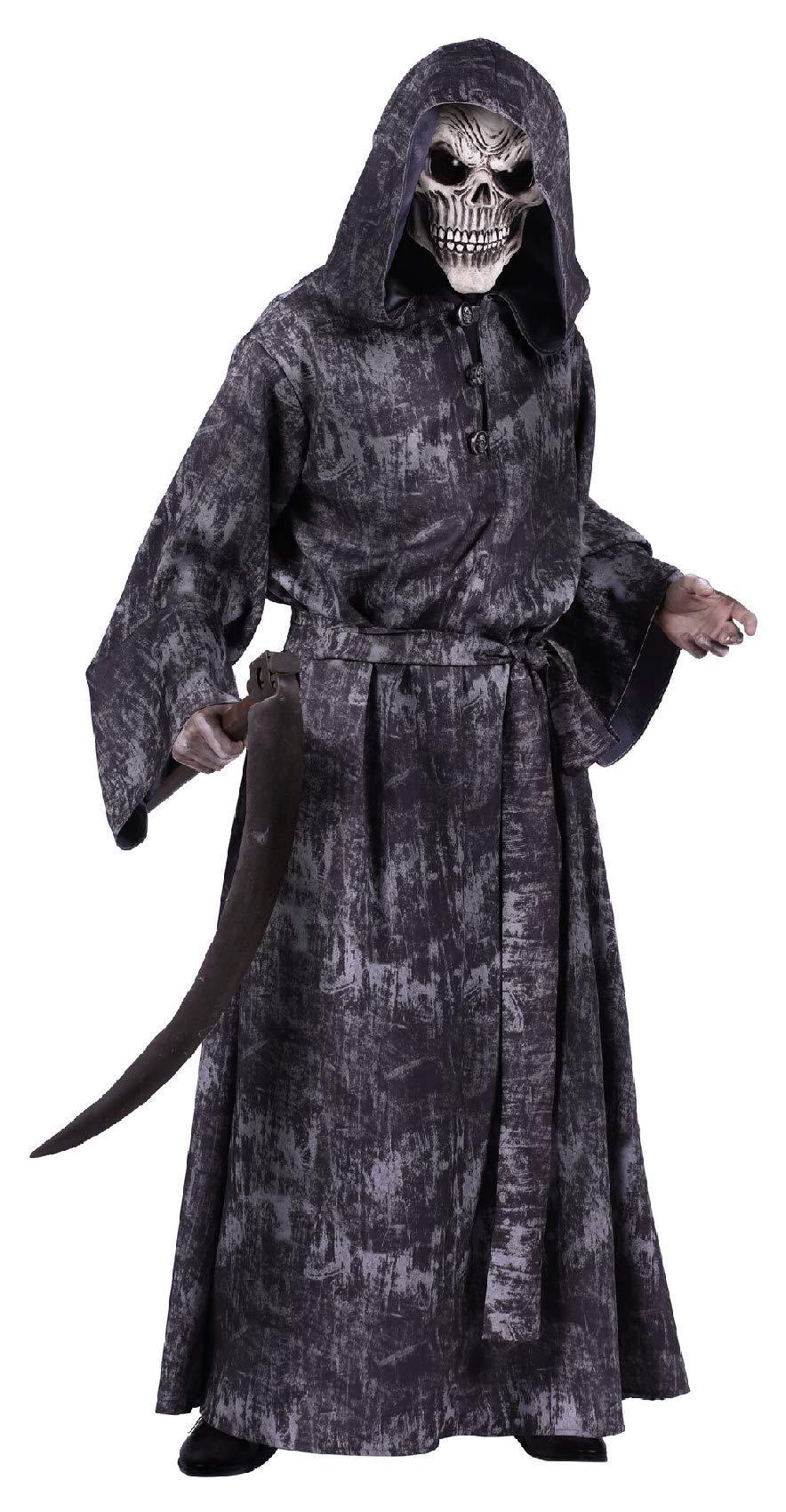 T2785-S schwarz-grau Walking Dead Herren Halloween Kostüm mit Kapuze Gr.S