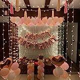 CherishX.com Pastel Rose Gold Balloons for Birthday Decoration - 88 Pcs Combo - Rosegold Happy Birthday, Pastel & Metallic Ba