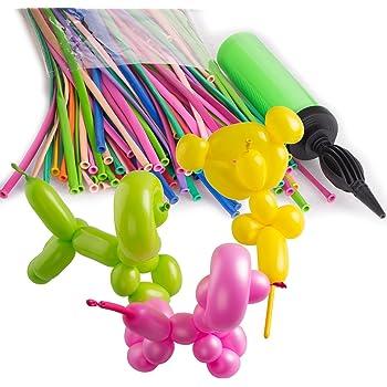 ZeWoo 200pcs Ballons en Latex pour La Décoration de Fête D'anniversaire de Mariage + Pompe (Couleur Aléatoire)