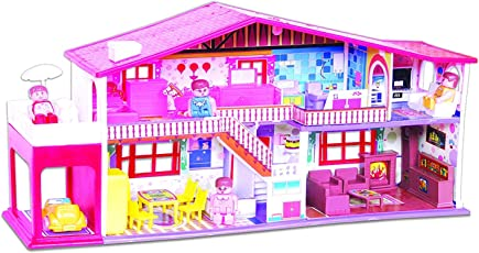 Manya My Deluxe Doll House, Red (50 Pieces)
