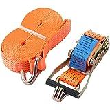 5 000 kg (5 ton) 10 m spärrband band band band slitstarkt spänningsbälte materialhantering EN 12195-2 med bältesbredd på 5 cm