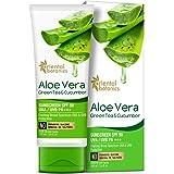 Oriental Botanics Aloe Vera, Green Tea and Cucumber Cream Sunscreen SPF 50 UVA/UVB Pa+++, 100 ml (ORBOT53)