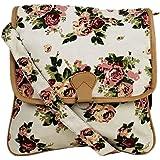 Crafts My Dream Women's Sling Bag (Beige & Rose)