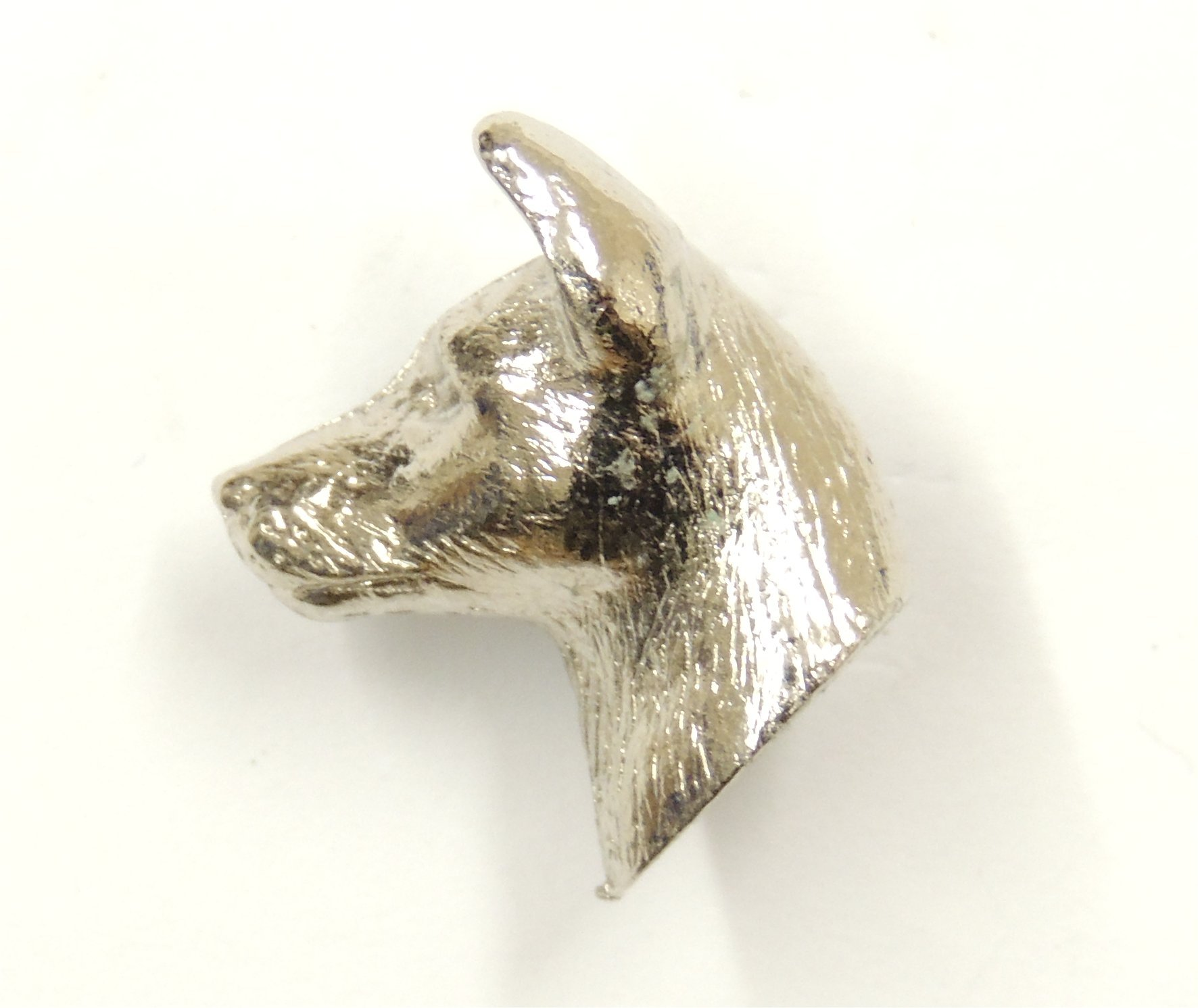 Basenji lapel Pin Brooch Silver Finish