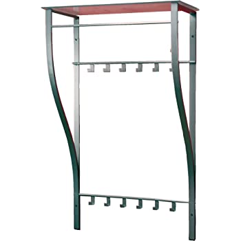 iovivo wandgarderobe aus stahlrohr mit sprossenablage 66x30x110 cm k che haushalt. Black Bedroom Furniture Sets. Home Design Ideas