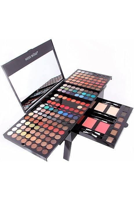 Songlela 180 Colores Paleta de Sombras de Ojo Kit, Profesional Caja de Maquillaje de Sombras de Ojos, Maquillaje de Regalo Set Incluye Sombra de Ojos, Polvo de Cejas, Coloretes, Silueta en Polvo #