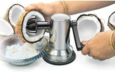 Vepson Stainless Steel Coconut Scrapper Crusher With Vacuum Base