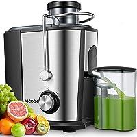 Centrifugeuse Fruits et Légumes, Aicook 65MM Large Bouche 600W Extracteur de Jus, sans BPA, en Acier Inoxydable de…