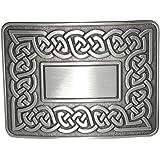 Traditional Dress Celtic Eternal Link Kilt Belt Waistplate Buckle - Brushed Antique