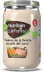 Nutribén Ecopotitos de Pollo de Corral con Verduras, Desde Los 6 Meses, 235g