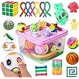 مجموعة العاب تفاعل حسي، 27 قطعة من ادوات تخفيف التوتر والقلق للاطفال والكبار، تتضمن لعبة الكرة والشبكة وكرات الضغط وسلسلة فول