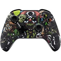 eXtremeRate Scary Party Bomb Faceplate Cover, Soft Touch Front Housing Shell Case, Comfortable Soft Grip Replacement Kit…