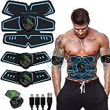 SHENGMI Electroestimulador Muscular, Abdominales Cinturón, Estimulador Muscular Abdominales, ABS Estimulador Muscular USB Rec
