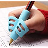 3 pcs Adorable Ring Pencil Grips Eco-friendly Soft Silicone Pencil Holders Writing Posture Correction Finger Grip for Kids Pr