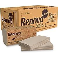 Renova Serviettes de table Love&Action Zig-zag, papier recyclé, 2 plis, 180 serviettes