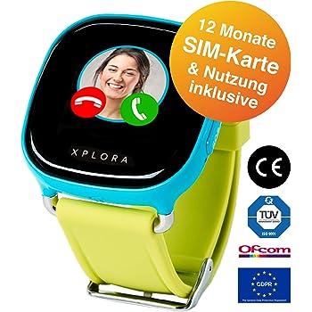 XPLORA 1 - Telefonuhr (Blau) für Kinder, inklusive 12 Monate Telefonie, Internet und XPLORA-Dienste (NUR FÜR KUNDEN IN Deutschland)